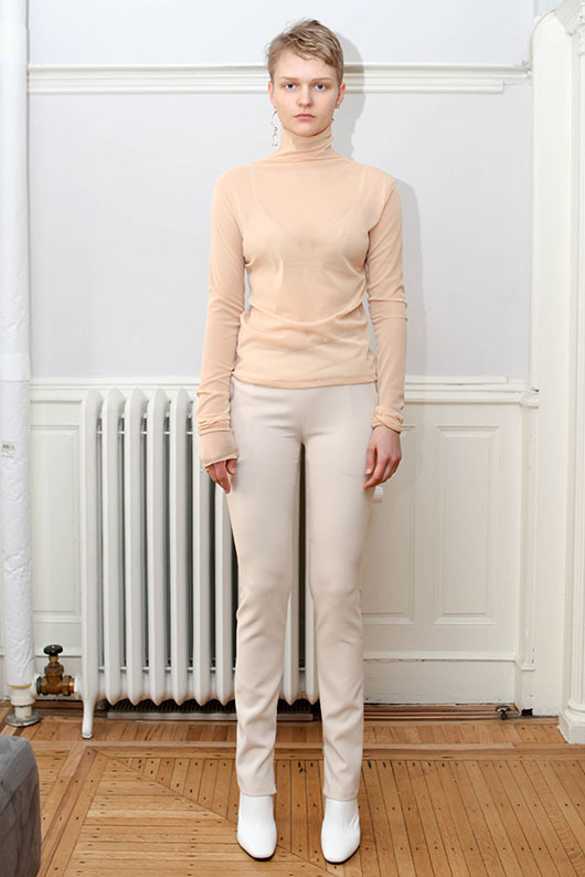 19 SS for her. SLIM ZIPPER PANTS (ivory)