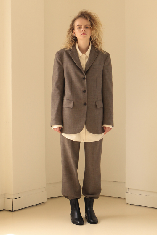 FOR HER WOOL SLACKS - BROWN