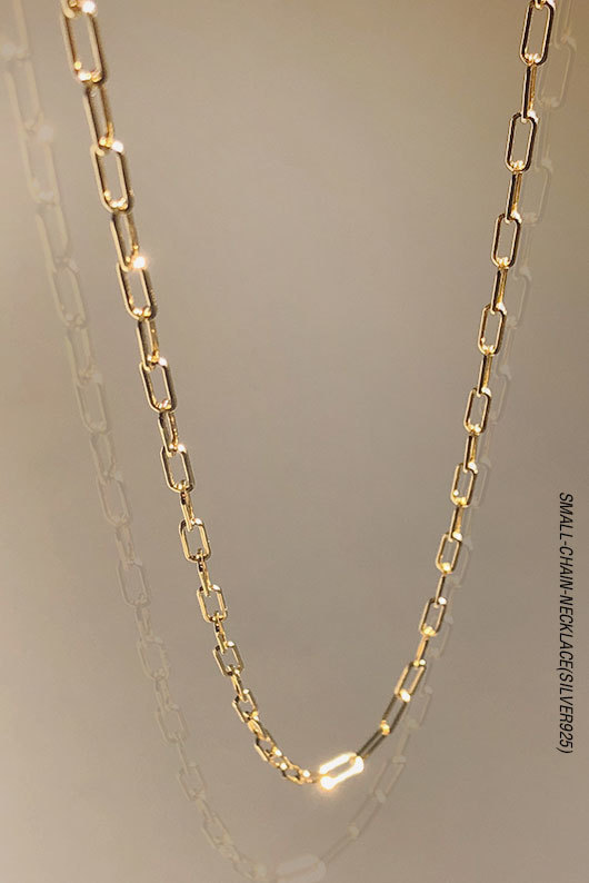 SMALL CHAIN NECKLACE(SILVER925)