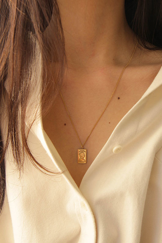 N SQUARE NECKLACE (925 SILVER)