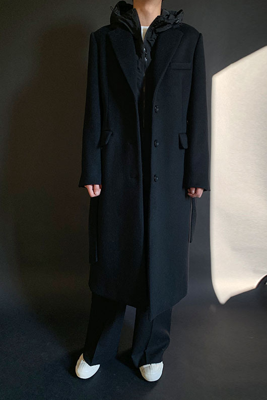 2 WAY HOOD COAT (BLACK)