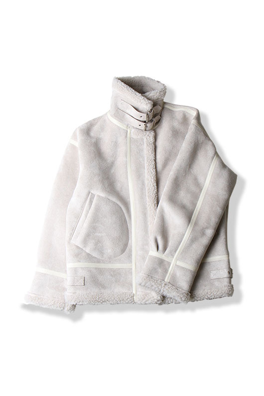 WINTER SHEARLING COAT (IVORY)