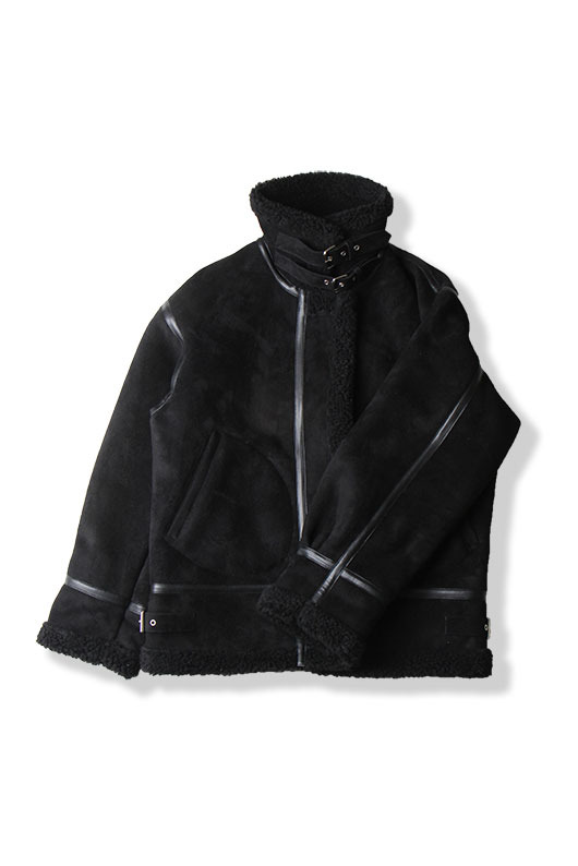 WINTER SHEARLING COAT (BLACK)