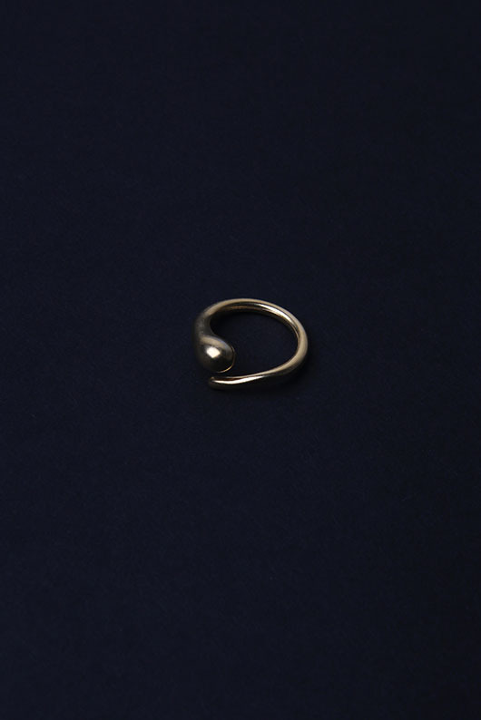 GOLD WATERDROP RING (SILVER 925 )