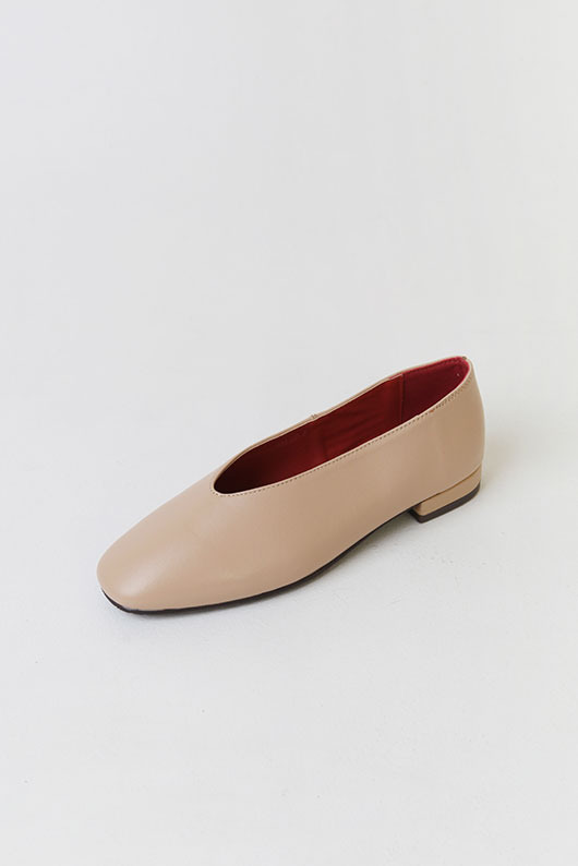 SHEEPSKIN ROUND FLAT SHOES