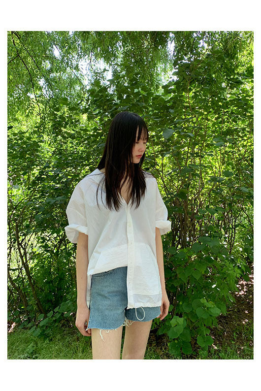 Film of May slit short denim