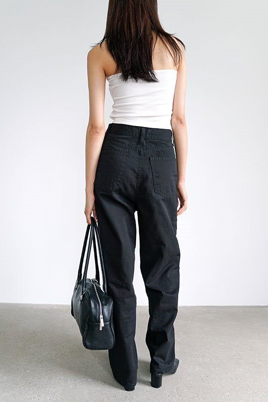 COTTON STRAIGHT PANTS