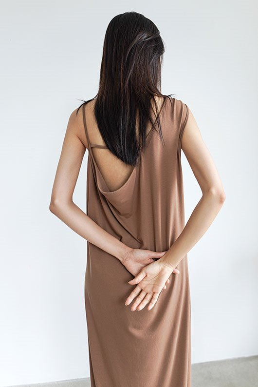 BACK POINT JERSEY DRESS