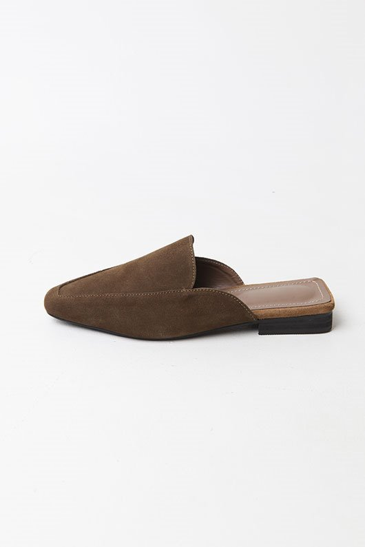 REAL LEATHER SUEDE MULE (4 COLOR)