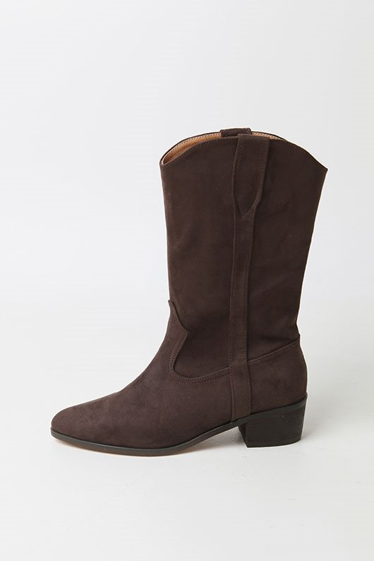 SUADE MIDDLE BOOTS (3 COLOR)