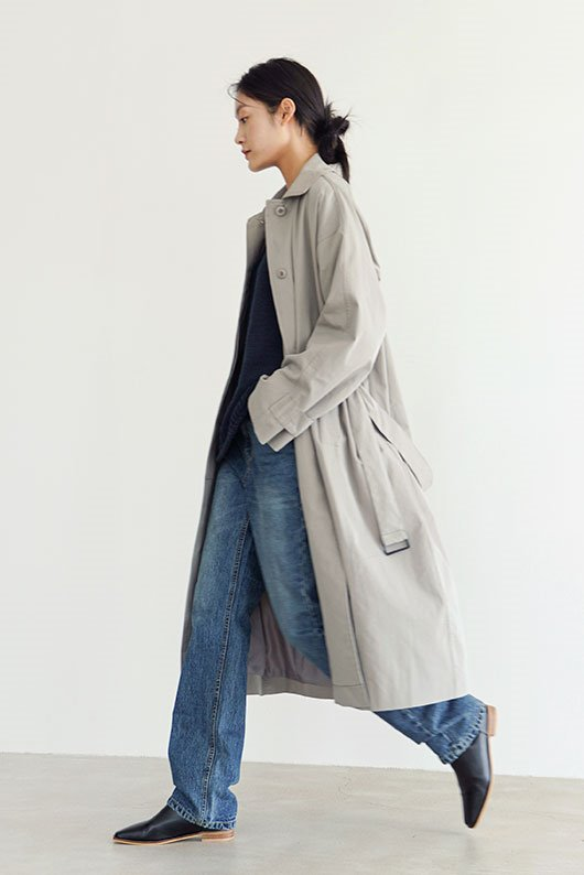 TIDY MOOD TRENCH COAT (GRAY COLOR)