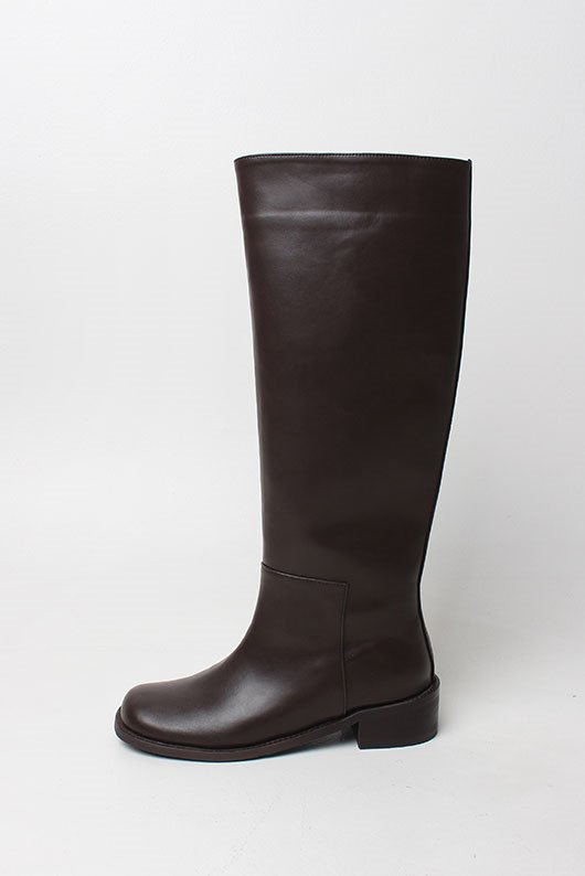 ROUND SHAPE LONG BOOTS (2 COLOR)(3/5~ 순차입고)