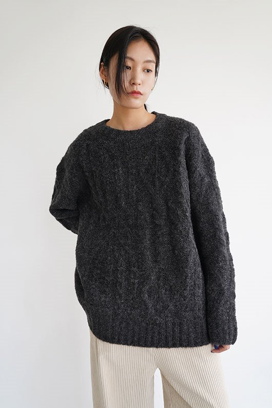 TWIST LOOSE FIT KNIT (BRICK COLOR)