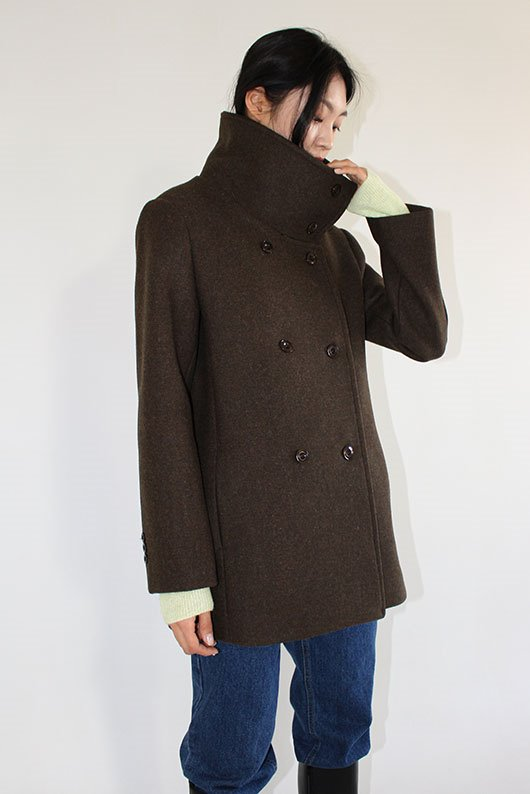 FINE WOOL PEA COAT (2 COLOR)