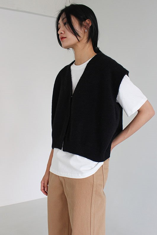 SNAP KNIT VEST (5 COLOR)