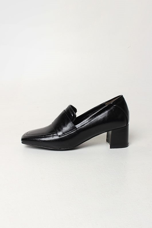 MIDDLE HEEL LOAFER (4 COLOR)