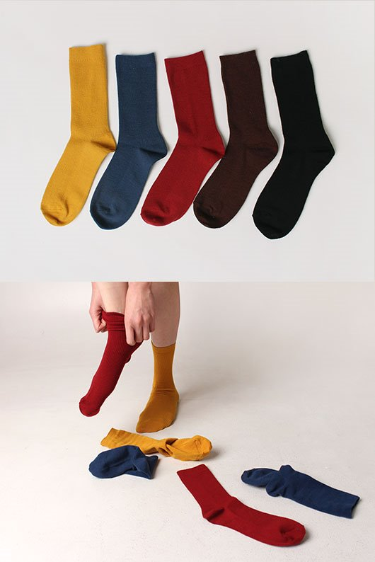 WOOL COLOR SOCKS (5 COLOR)