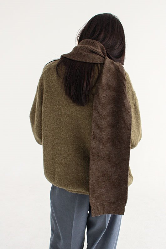 SOFT WARMER LOOSE FIT KNIT (CHARCOAL COLOR)