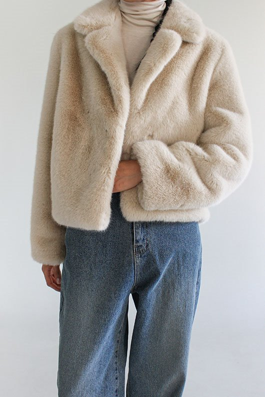 SOFT FAKE FUR JACKET (4 COLOR)