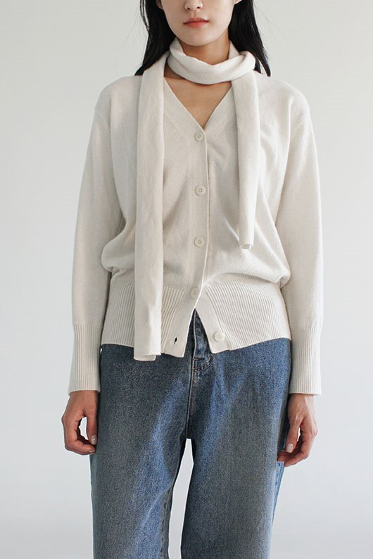 LOW MUFFLER CARDIGAN (3 COLOR)