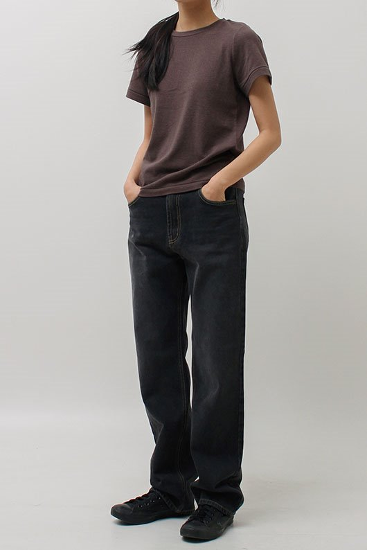 FEIN STRAIGHT LONG DENIM (BLACK COLOR)